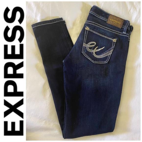 NWOT Express Dark Wash Skinny Legging Jeans 6R